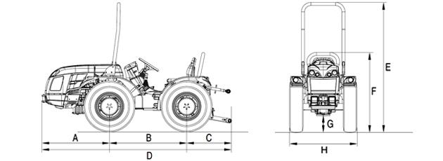 Трактор Эра размеры